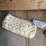 Irish Twist Headband by The Scrappy Knitter-White