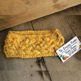 Irish Twist Headband by The Scrappy Knitter-Yellow