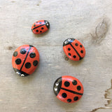 Lady Bug Painted Rocks by Connie Thompson