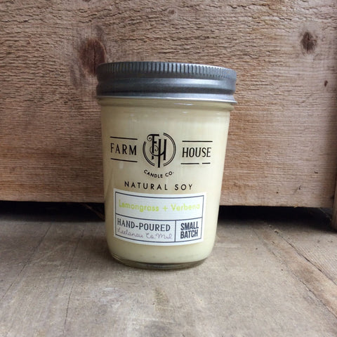 Lemongrass + Verbena - Farm House Candle Co.