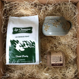 Les Cheneaux Coffee Lovers Box with Blue Turtle or Fish