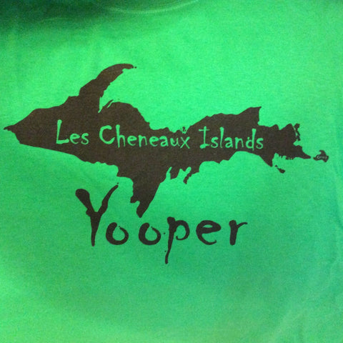 Les Cheneaux Islands Yooper Adult T-Shirt by Kate Otstot