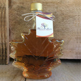 Maple Syrup by Mackinac Bluffs Maple Farms8.5oz. Glass Leaf Maple Syrup
