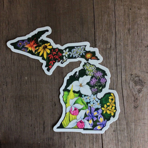 Michigan Flower Sticker by Sarah Tule