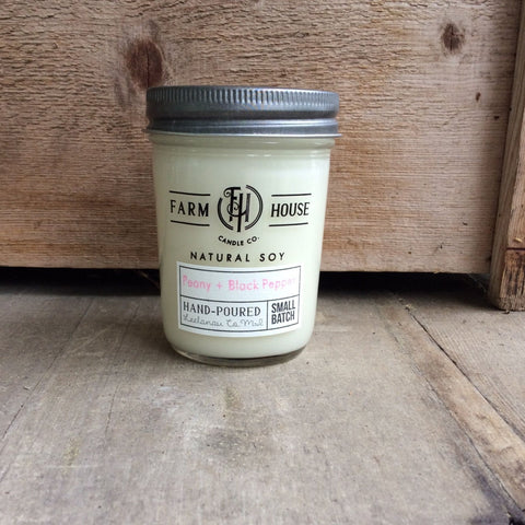 Peony + Black Pepper - Farm House Candle Co.