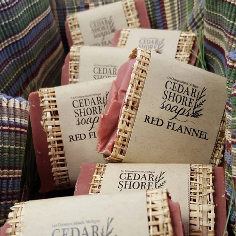 Red Flannel Beer Soap Bar by Cedar Shore Soaps