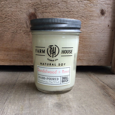 Sandalwood + Rose - Farm House Candle Co.