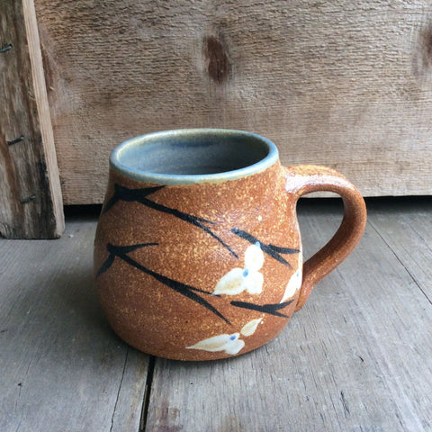 Short Mug with Handle by Heerspink and Porter-BrownFlower