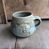 Short Mug with Handle by Heerspink and Porter-Fish
