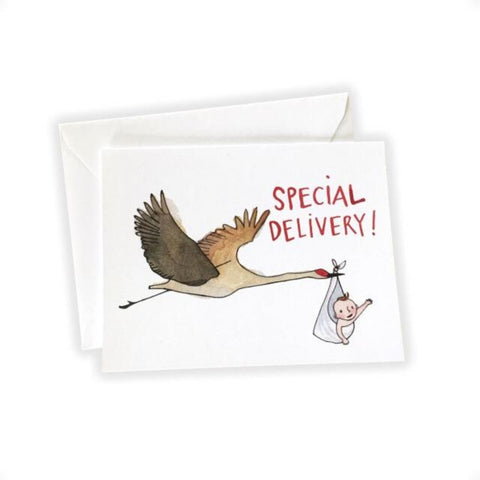 Special Delivery! Baby Congrats Card by Katie Eberts Illustration