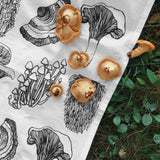 Tea Towel by Nature Walk-Michigan Mushrooms Tea Towel
