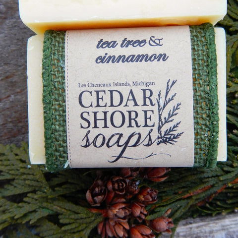 Tea Tree & Cinnamon Soap Bar by Cedar Shore Soaps