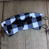 U.P. Cup Cozy - Kaydees Keepers-White and Black Buffalo Plaid