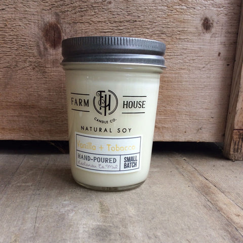 Vanilla + Tobacco - Farm House Candle Co.