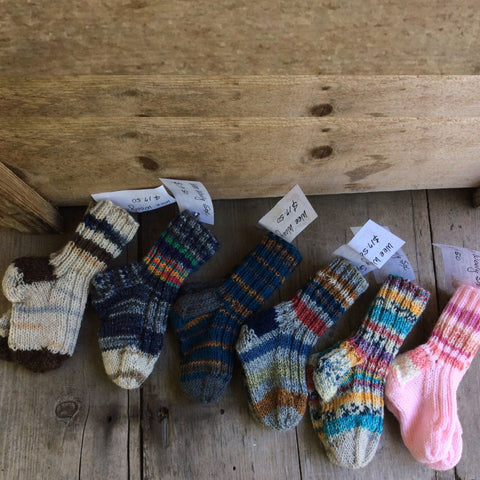 Wee Woolly Socks by The Scrappy Knitter