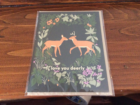 Love You Deerly Card by Amy Heitman