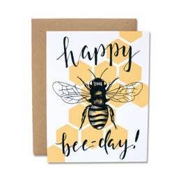 Happy Bee-Day Card by Dear Ollie