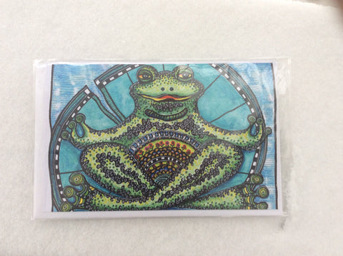 Frog Zen Card by S. A. Johnson Creations