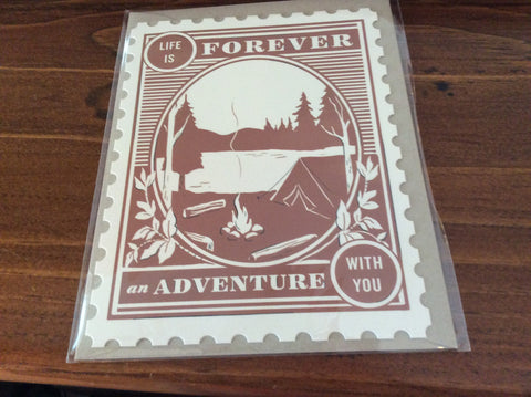 Life is Forever an Adventure Card by Amy Heitman