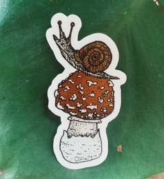 Mushroom Snail Sticker by Nature Walk