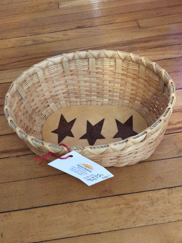 Star Basket (hang or sit) by Sunset Basketry/Consignment