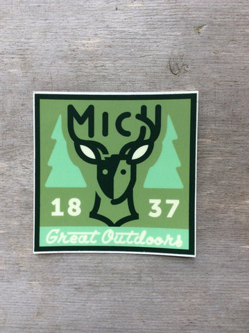 Michigan Deer 1837 Sticker Ardent Ink
