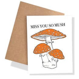 Miss You So Mush Card by Nature Walk