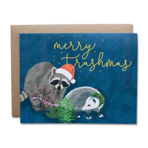 Merry Trashmas Card by Dear Ollie