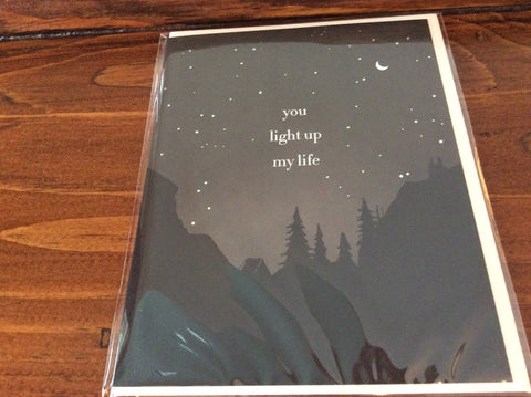 You Light Up My Life Card by Amy Heitman