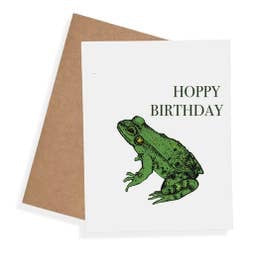 Hoppy Birthday Card by Nature Walk