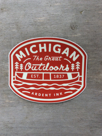Orange Great Lakes state Sticker- Ardent Ink