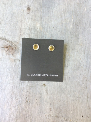 A. Clarke Metalsmith Trixie's Studs Duel Tone Earrings