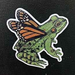 The Frog Grew Wings Sticker by Nature Walk