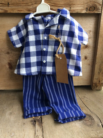 Blue Plaid Doll Outfit JC22