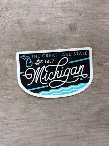 Michigan Badge Sticker- Ardent Ink