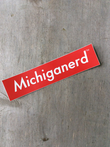 Michiganerd Sticker
