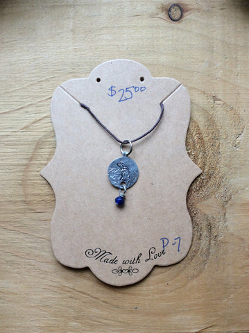 MMK Designs - Small Handmade Michigan Pendant Blue