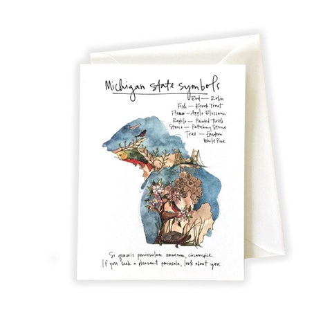 Michigan State Symbols Card- Katie Eberts