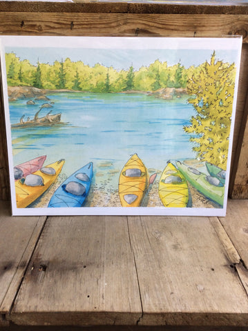 Kayak Print by Sarah Tule