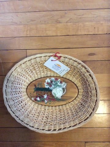 Oval bowl by Sunset Basketry/ Consignment