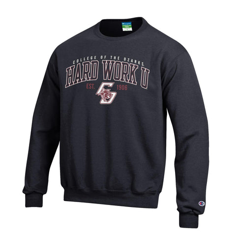 Champion® Eco Powerblend Crewneck Sweatshirt- Hard Work U®