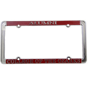 Aluminum License Plate Cover- ALUMNI College of the Ozarks