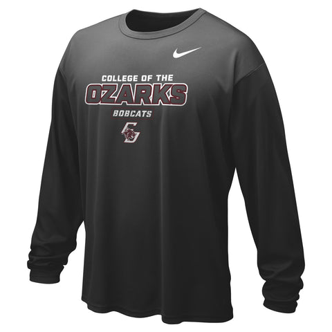 Nike® Dri-FIT Mens Long-Sleeve Tee- College of the Ozarks