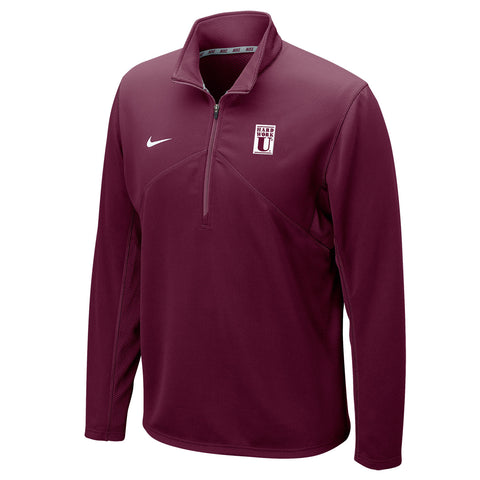 Nike® Dri-FIT Mens Long Sleeve 1/4 Zip Top- Hard Work U