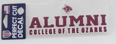 "Wincraft Die-Cut Decal 3"" x 7""- Alumni College of the Ozarks"