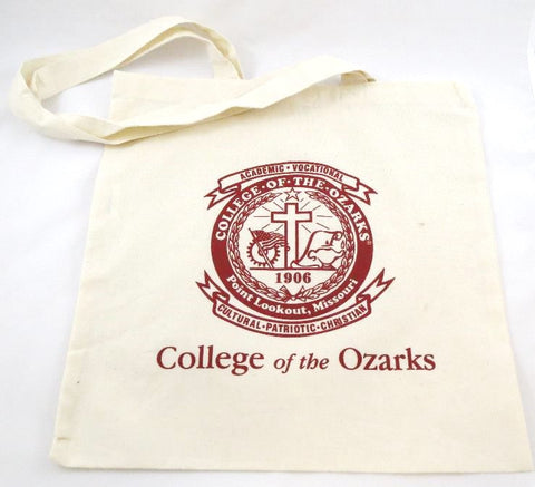 Cotton Sheeting Natural Tote- College of the Ozarks