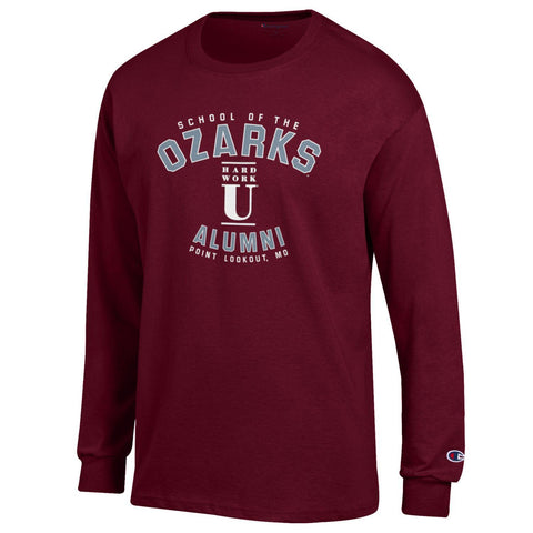 Champion® Long Sleeve Jersey Tee- School of the Ozarks Alumni
