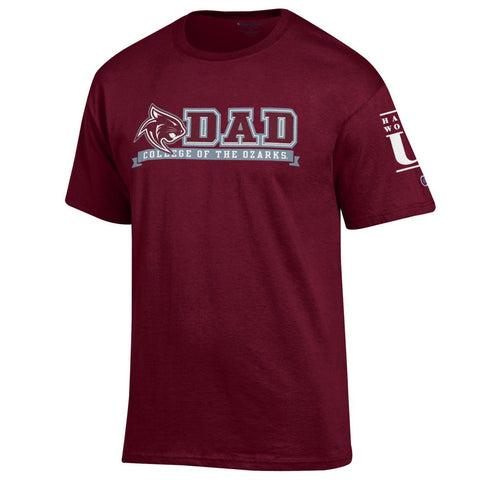Champion® Short Sleeve Jersey Tee- College of the Ozarks DAD