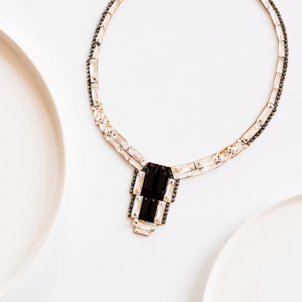 Brooklyn Necklace - Crystal & Jet