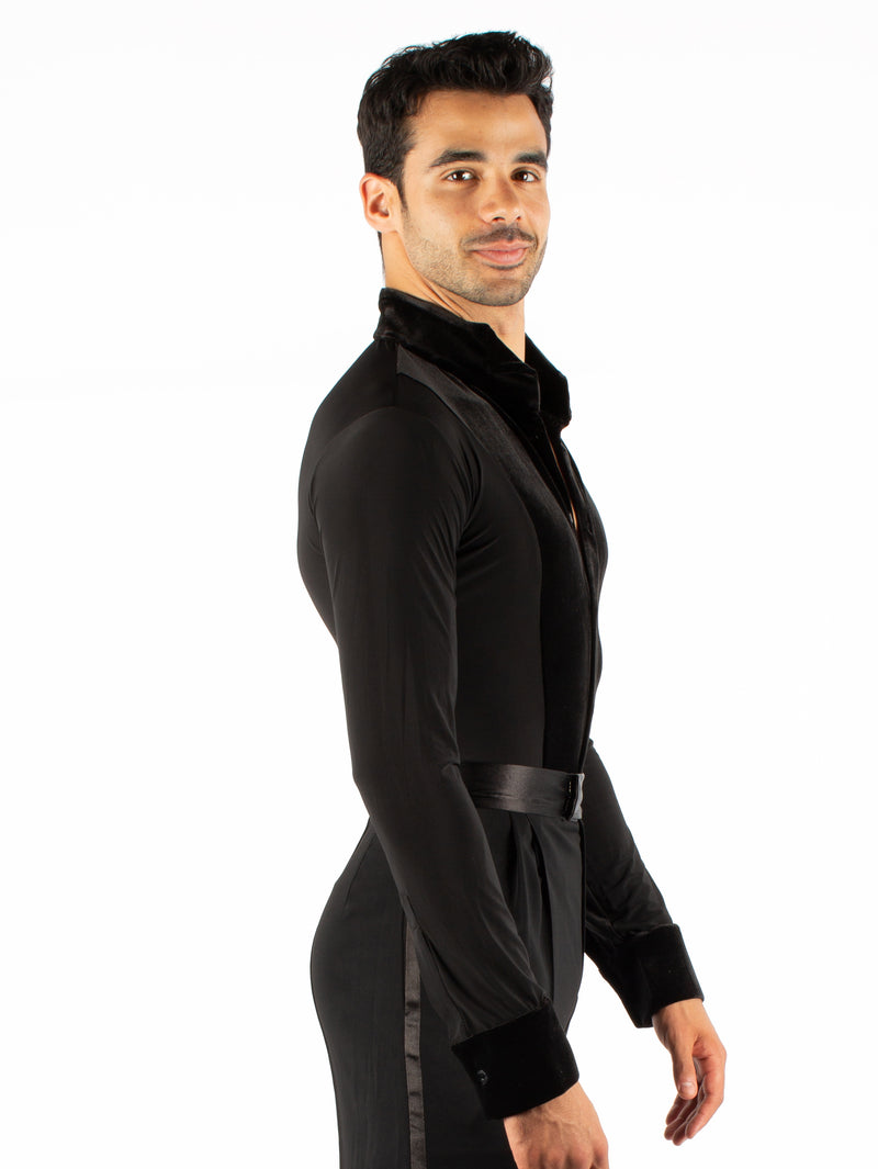 Theodore Long Sleeved Shirt - Spandex/Velvet